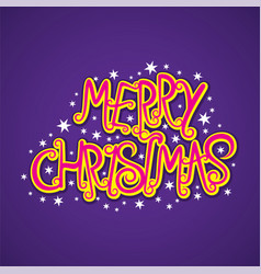 merry christmas poster design vector image vector image