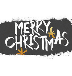 Merry christmas vintage monochrome lettering with vector