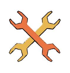 metal steel spanner tool support vector image vector image