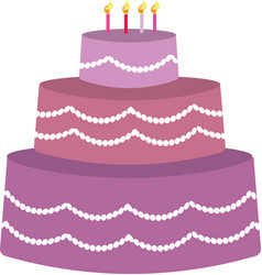 Purple birhday cake vector