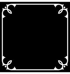 Silent movie black frame with white border vector