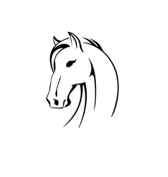 Silhouette of a horse head vector