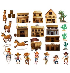 Western cowboys vector image