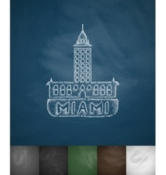 House miami icon hand drawn vector