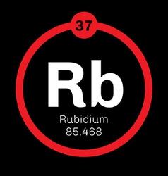 Rubidium chemical element vector