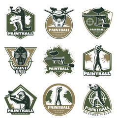 Colorful vintage active leisure emblems set vector