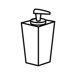 Blank cream bottle vector