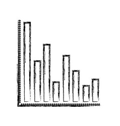 Monochrome blurred silhouette of column chart vector