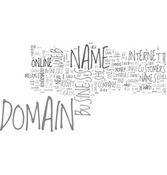 Is your domain name on someone s wanted list text vector