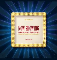 Cinema golden square frame vector