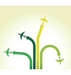 green planes vector image