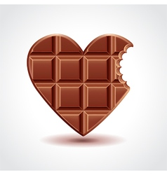 Chocolate heart love concept vector