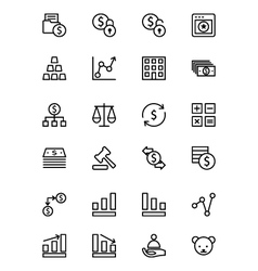 Finance line icons 2 vector
