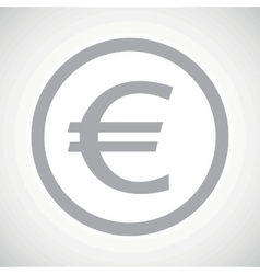 Grey euro sign icon vector