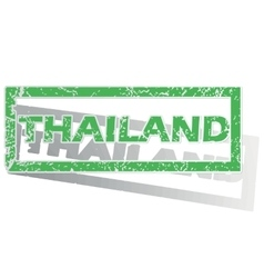 Green outlined thailand stamp vector