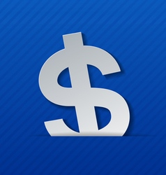 Dollar sign on blue background vector
