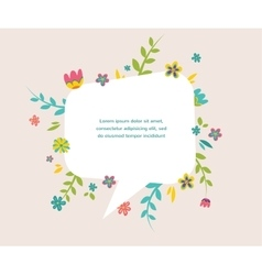 Flower frame can be used as creating card vector