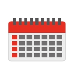 Calendar reminder isolated icon design vector