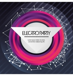 Circle icon electro party design graphic vector