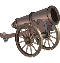 A video game object cannon vector image