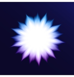 Abstract Background With Glowing Flower vector image vector image