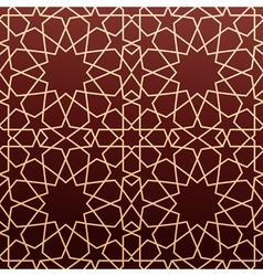 Arabic geometric art seamless pattern vector