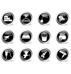 Building equipment icons set vector