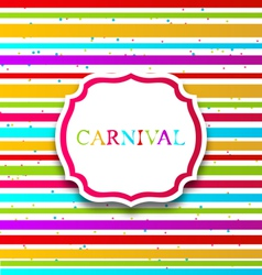Colorful card with advertising header for carnival vector image vector image