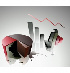 concept of a financial crisis vector image vector image