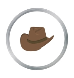 Cowboy hat icon cartoon singe western icon from vector