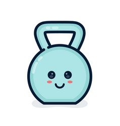 cute happy smiling dumbbell vector image vector image