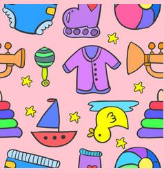 Doodle of element baby stock art vector