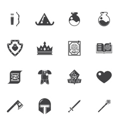 Fantasy game trendy icons vector