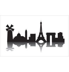 France city skyline silhouette vector