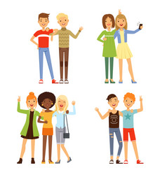 friendship different male and vector image vector image