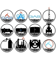 Gas extracting industry vector