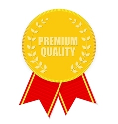 Gold Label Premium Quality vector image