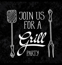 grill typography design concept vector image vector image