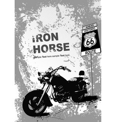 Grunge gray background with motorcycle image vector