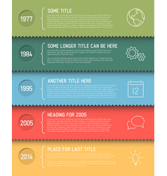 Infographic timeline report template vector