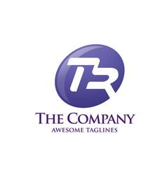 letter tr logo vector image