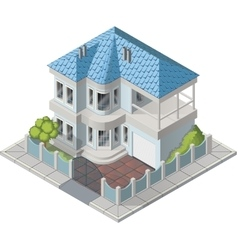 luxury house isometric vector image