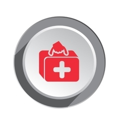 Medical bag ambulance icon Health and medicine vector image