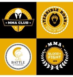 Mma battle logos or badges designs vector