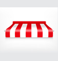 red and white striped awning vector image