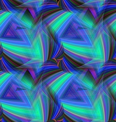 Repeating triangular pattern of cold colors vector