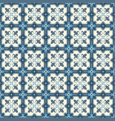Retro floor tiles patern vector