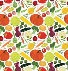 seamless background with a variety of vegetables vector image