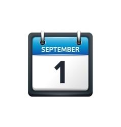 September 1 calendar icon vector