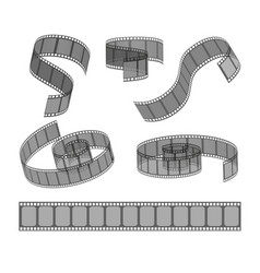 set of filmstrip rolls collection of realistic vector image